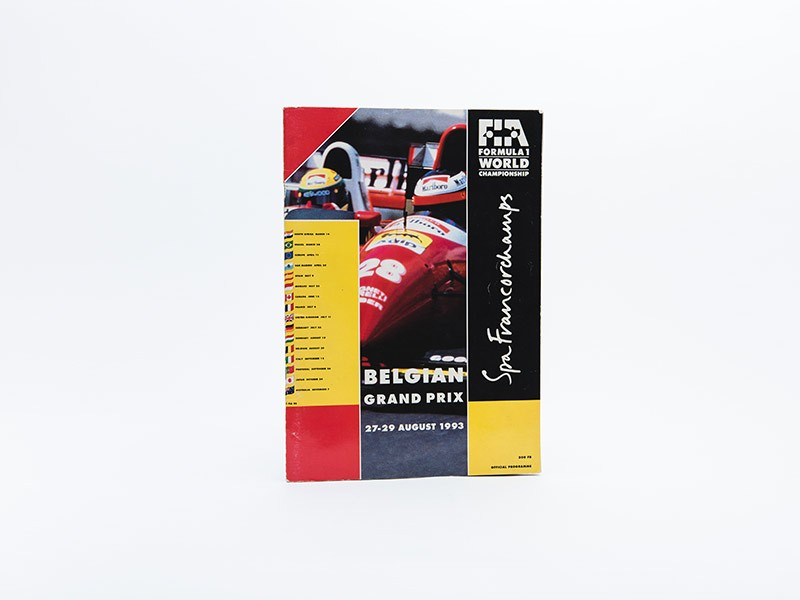 1993 Belgian Grand Prix Programme - Multi-Signed