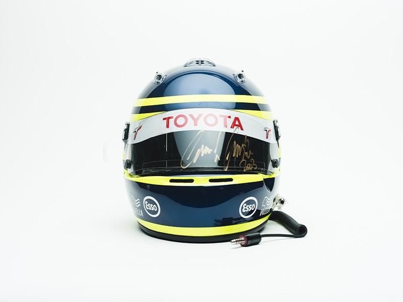 2003 Christiano Da Matta Toyota F1 helmet