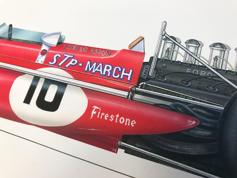 Chris Amon signed limited edition print
