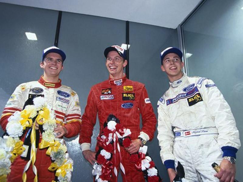 Daniel Wheldon on the 1998 Formula Ford Festival podium