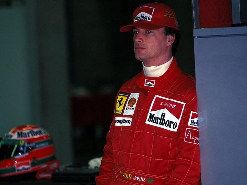 Eddie Irvine in 1996