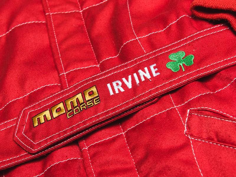 Eddie Irvine race used & signed 1996 Ferrari overalls