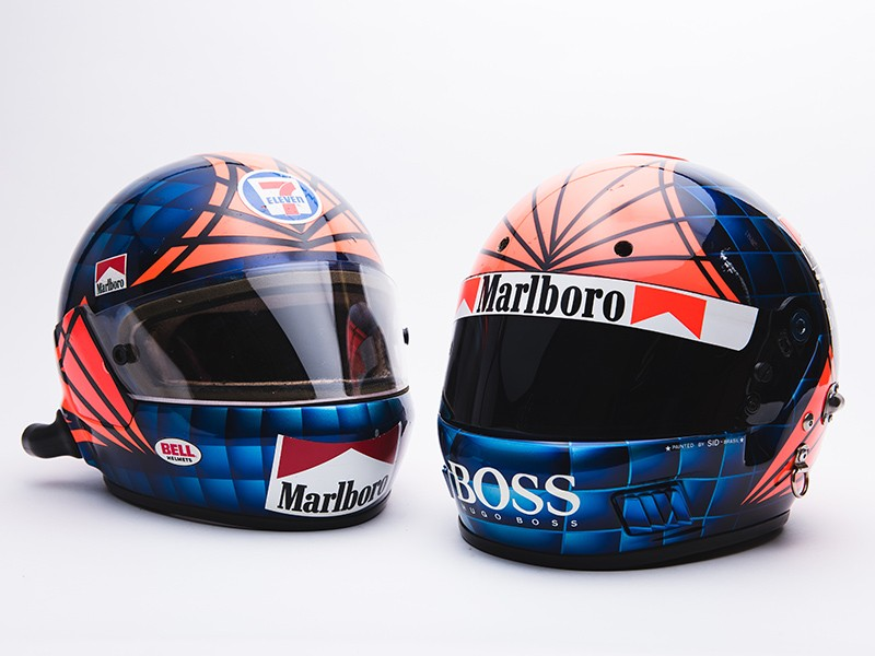 Emerson Fittipaldi helmet collection