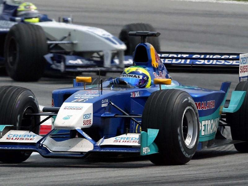 Felipe Massa in 2002 driving for Sauber F1