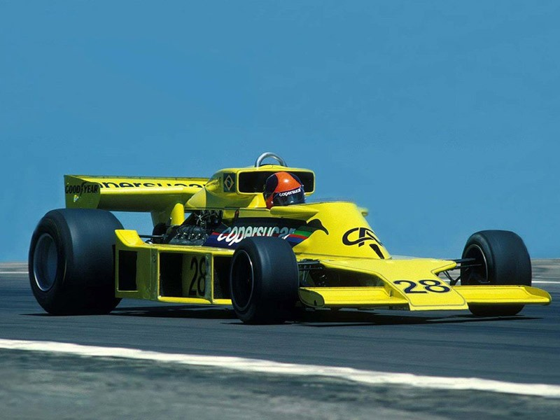 Emerson Fittipaldi in the Fittipaldi F5/2