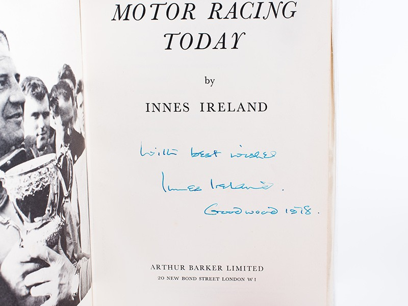 Innes Ireland - Motor Racing Today (signed)