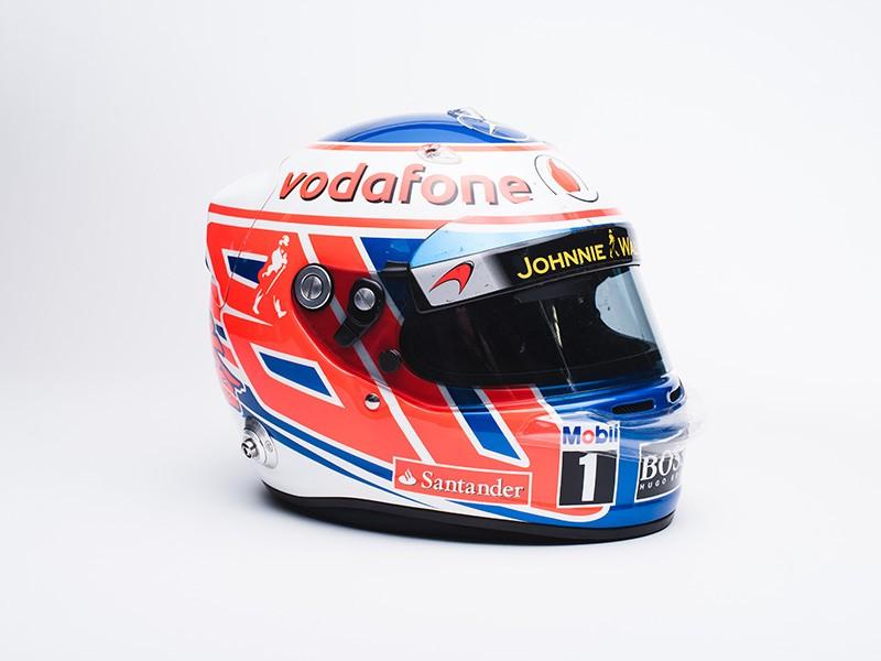 2012 Jenson Button Signed McLaren helmet