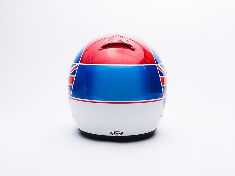 Justin Wilson replica helmet