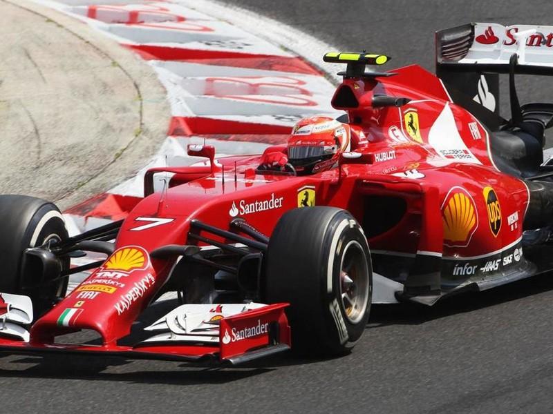 Kimi Raikkonen during the 2014 Formula 1 season.