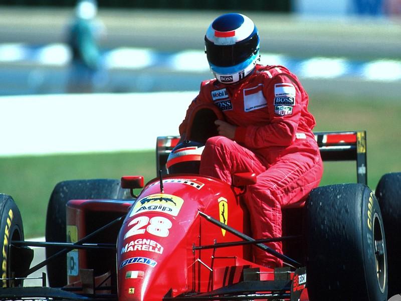 Mika Hakkinen at Hockenheim, 1995