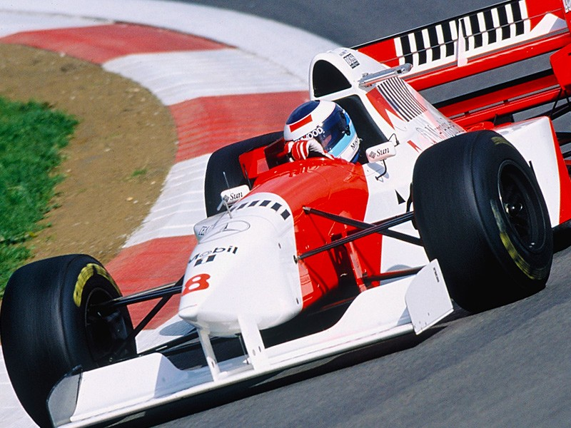Mika Hakkinen at Nurburgring, 1995