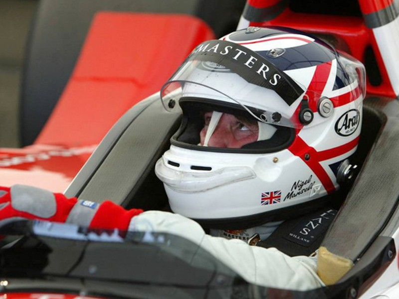Nigel Mansell at the GP Masters test in 2005.