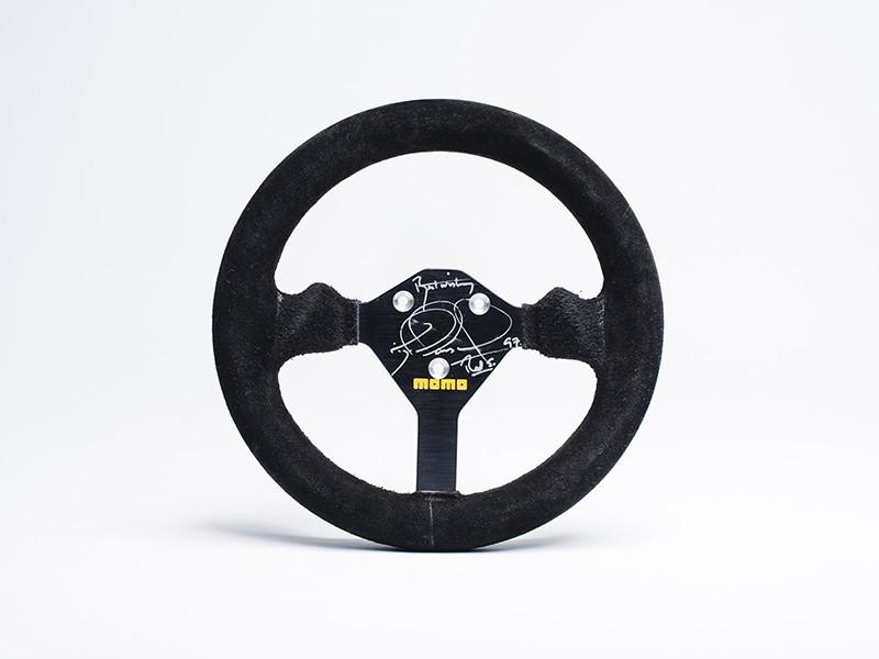 Nigel Mansell 1984 Lotus 95T steering wheel