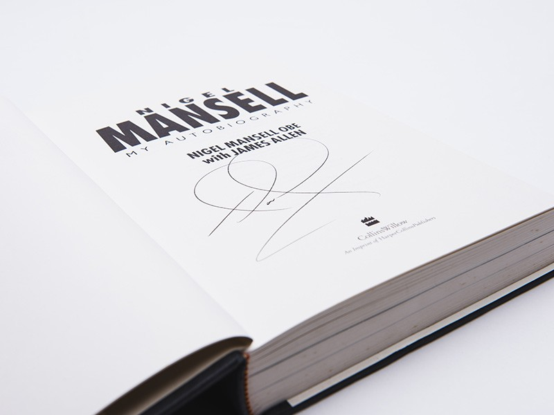 Nigel Mansell signed Autobiography