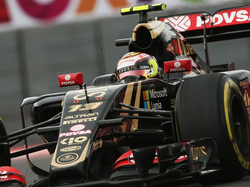 Pastor Maldonado driving for Lotus F1 in 2015