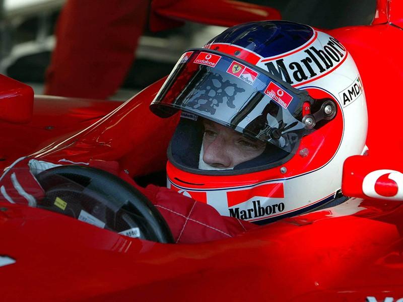Rubens Barrichello during the 2002 Formula 1 season.