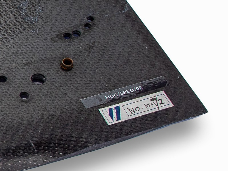 Williams F1 rear wing end plate